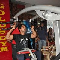 John Abraham promotes his film Force at Gold Gym
